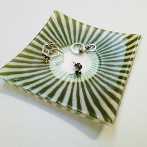Fused glass trinket or soap dish