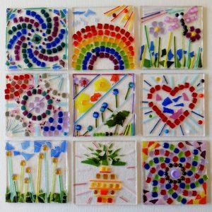 Childrens fused glass mosaic workshop Bristol