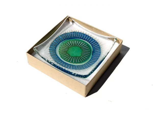 Fused glass trinket dish - Pod