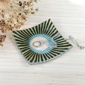 Fused glass trinket dish - Burst