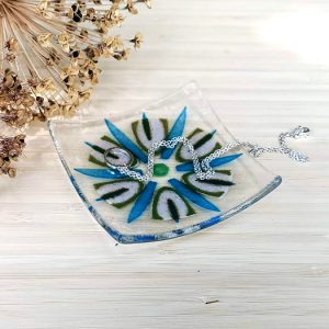 Fused glass trinket dish - Passion
