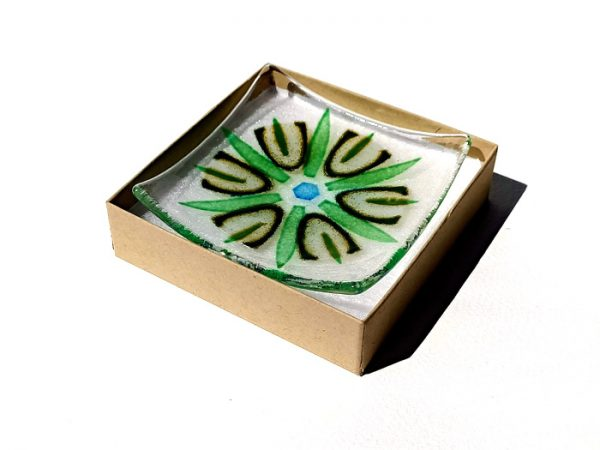 Fused glass trinket dish - Passion