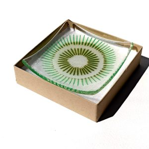 Fused glass trinket dish - Pod