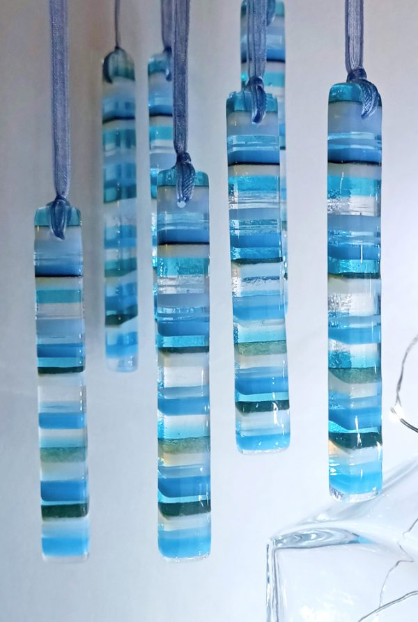 Fused glass Icicle