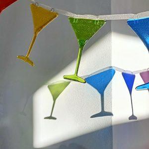 Rainbow Cocktail Glass Garland